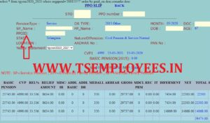 Telangana Pensioners PPO ID search with Name